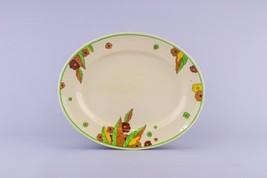 Art Deco PLATTER Floral Peach Royal Doulton 533... - $71.83