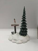 Department 56 Let It Snow Snowman Sign 1995 #52594 General Village Collectible - $16.78