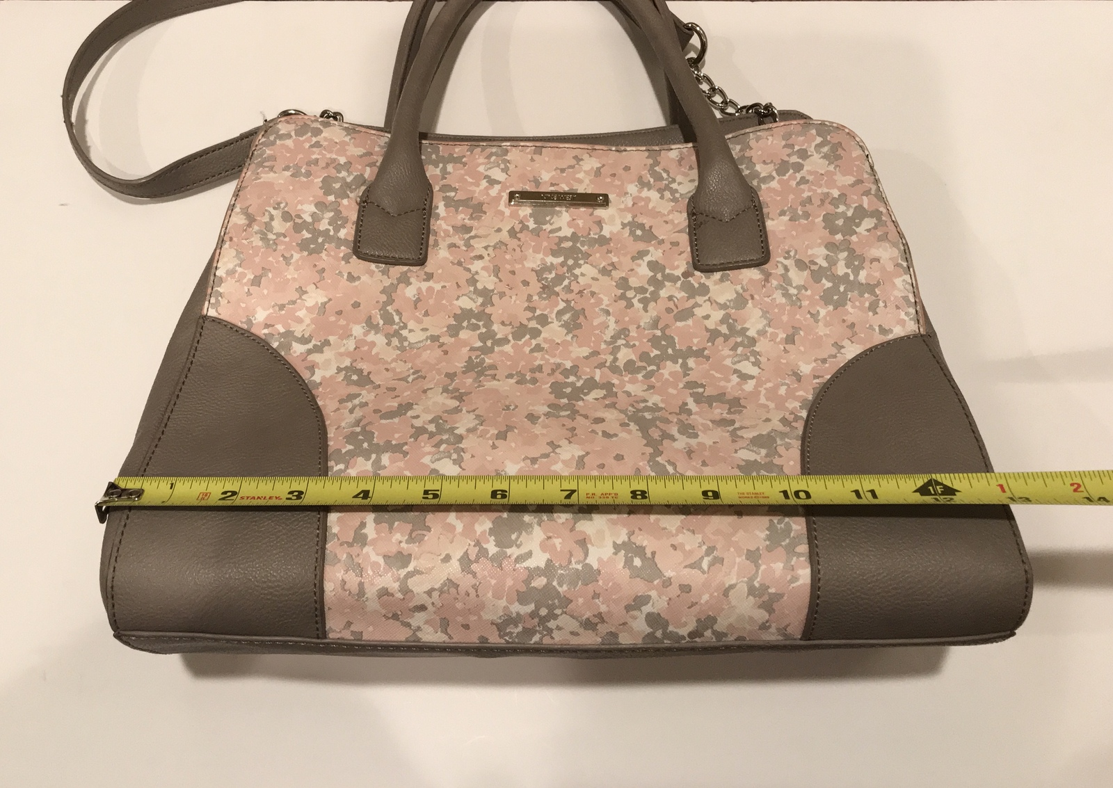 Nine West Light Pink/Grey Floral Shoulder Bag