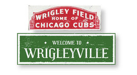 Baseball--Item 3555 - Rustic Wood Sign--Set of Two Cubs Signs--7 x 22 & ... - $44.00