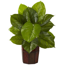 Large Leaf Philodendron w/Decorative Planter (Real Touch) - $78.64