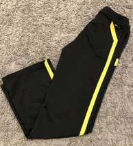 Nike Girls Extra Large Black Athletic Pants XL Live Strong Yellow - $14.85