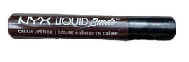 NYX LIQUID SUEDE CREAM LIPSTICK DARK BROWN RED UNDERTONES CLUB HOPPER LS... - $13.49