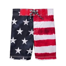ce0a97f08e NWT Gymboree Flag Patriotic Boys Board Shorts Swim Trunks Swimsuit 2T 3T...  -