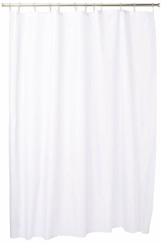Interdesign Fabric Shower Curtain, Modern Mildew-Resistant Bath Liner For Master