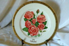 Gorham 1976 Cathedral Rose Collector Plate American Rose Society - $12.59