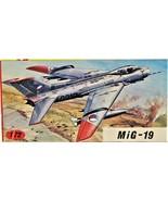 Kovozavody Prostejov (KP) MiG 19 Model Kit No. 4 in 1:72 Scale New In Box - $29.69