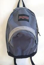 Vintage JanSport Blue & Grey Backpack Daypack Excellent Condition Large - $18.99