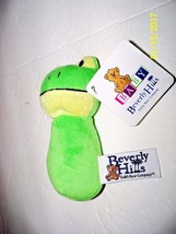 Plush Baby Rattle Green Frog Beverly Hills Teddy Bear Company New - $19.80