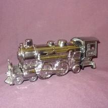 Vintage Train Steam Silver Tone Engine Bottle Deep Woods After Shave Avo... - $14.89