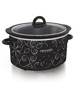 Crock-pot Scv400-pt: Manual Slow Cooker, Heart & Flower Dotted Patte - $73.60 CAD