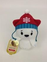 Itty Bittys Limited Edition Snowby Polar Bear Plush Stuffed Toy Hallmark 2015 - $10.84