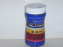 CHEWABLE MELATONIN ADULT SLEEP AID 2.5 MG STRAWBERRY FLAVOR GUMMY 60 GUM... - $9.35