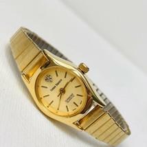 "Vintage Times Square Diamond Accent Women's Watch Gold Tone 6.25"" Expans... - $15.79"