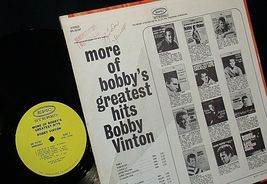Bobby Vinton  More of Bobby's Greatest Hits Bobby Vinton AA20-RC2106 Vintage image 5