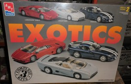 "AMT Ertl ""Exotics"" 3 Car Model Kit In Sealed Box Skill Level 2 - $60.00"