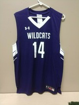 Under Armour Northwestern Wildcats New Sz L Arge Basketball Jersey #14 Mens - $20.89