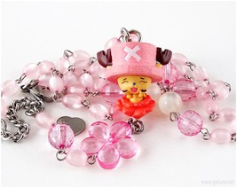 Kawaii Anime Character Necklace, Pink Jewery, Fairy Kei, Sweet Lolita, J... - $36.00