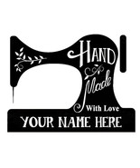 custom name sewing machine handmade with love by personalized self inkin... - $7.91