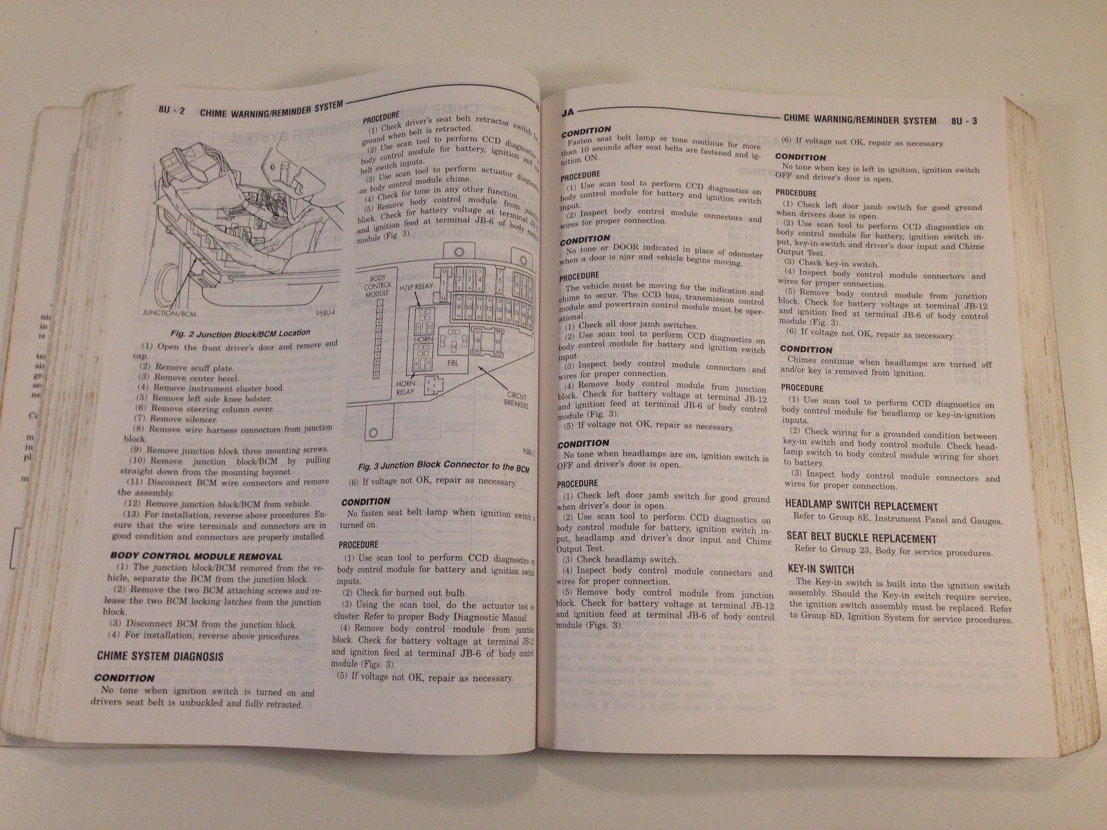 1995 Chrysler Dodge Cirrus Stratus Service Manual 81-270-5121 OEM Original