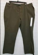 New Ladies LEE 1889 Sz 14 MidRise Fit Forest Crop Pants - $12.86