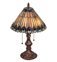 "19"" High Tiffany Jeweled Peacock Accent Lamp - $396.00"