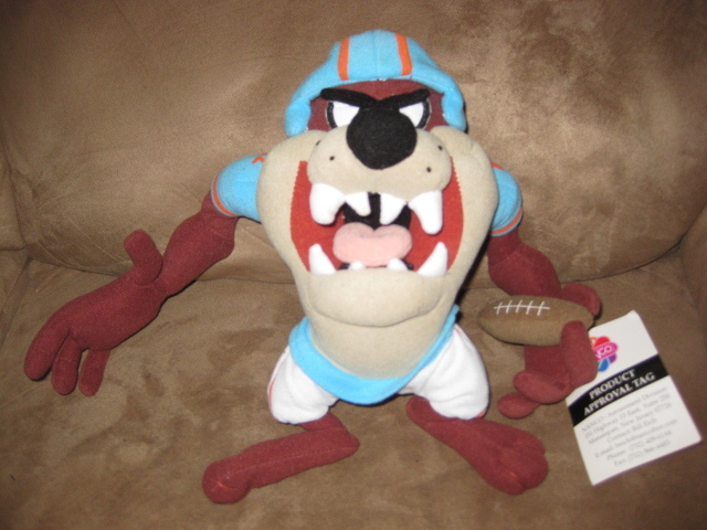 "Primary image for LOONEY TUNES FOOTBALL TAZ PRE-PRODUCTION SAMPLE Plush 12"" RARE PROMO TAG 2007"
