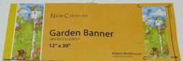 New Creative 25563 Kitten Birdhouse Garden Banner 100 Percent Polyester image 5