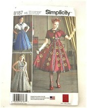 Simplicity 8187 Dress Cropped Jacket Sewing Pattern Dr. Who Steampunk CO... - $10.88