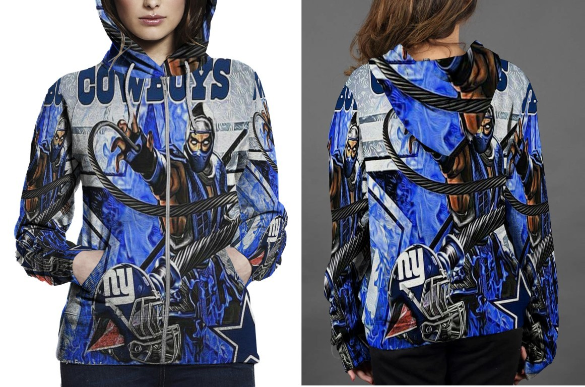 Primary image for Women Sweater  Mortal Combat Scorpio Cowboys Hoodie Fullprint Zipper Women