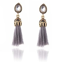 Long Tassel Earrings for women Pendientes Fashion Jewelry black and red ... - $20.00