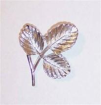 Vintage Sarah Coventry Silvertone Leaf Pin Brooch, Free Ship! - $11.99