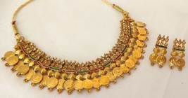 Fashion Jewelry Set Indian Gold Plated Ginni Meenakari Bridal Necklace Jewelry - $14.24