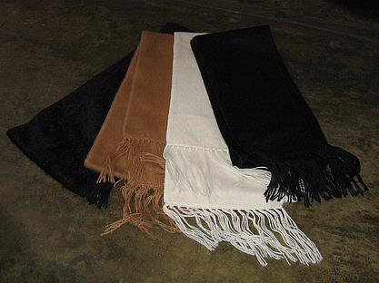 Set or 4 scarves, shawls made of alpacawool fabric