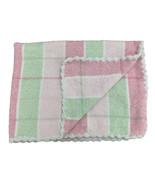 Koala Baby Chenille Baby Blanket Scalloped Edges Baby Blanket Pink Green... - $39.59