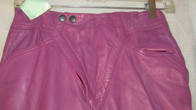Primary image for Fucshia leather pants