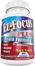 Brain Booster for Adults, Support to Improve Mood, Energy and Boost Focus Helps  - $34.29