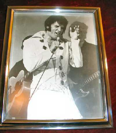 Vintage ELVIS Presley Framed Photo Silver Chrome Framed