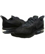 Men's Nike Air Max Sequent 4 Running Shoes, AO4485 002 Size 9 Black/Anth... - $89.95
