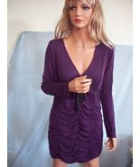 NEW LARGE NEWPORT NEWS PURPLE TUNIC DRESS T SHIRT TOP PULLOVER BLOUSE KNIT - $39.99