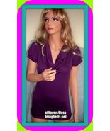 NEW MEDIUM DISCREET PURPLE LACE TUNIC  TEE T SHIRT TOP PULLOVER BLOUSE K... - $16.98