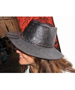 Goucho leather stetson, western hat of south America  - $43.00