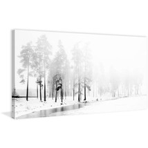 """22.5 in. H x 45 in. W """"Winter River"""" by Marmont Hill Printed Canvas Wall... - $171.20"""