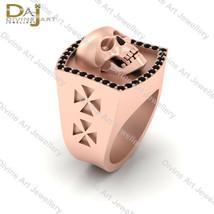 Human Skull Engagement Ring For Mens Black Diamond Gothic Skull Wedding ... - £217.65 GBP+