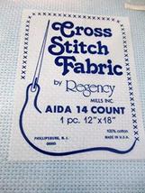 "Cross Stitch Fabric AIDA 14 Count 1 pc. 12"" x 18"" - $7.55"