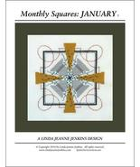 Monthly Squares January cross stitch card chart Linda Jeanne Jenkins - $6.00