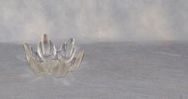 Lasisepat Mantsala Finland 1960's Glass Cactus Pattern Bowl Candleholder - $45.00
