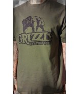 Grizzly dip snuff short sleeve shirt  army green small medium large XL 2... - $19.99