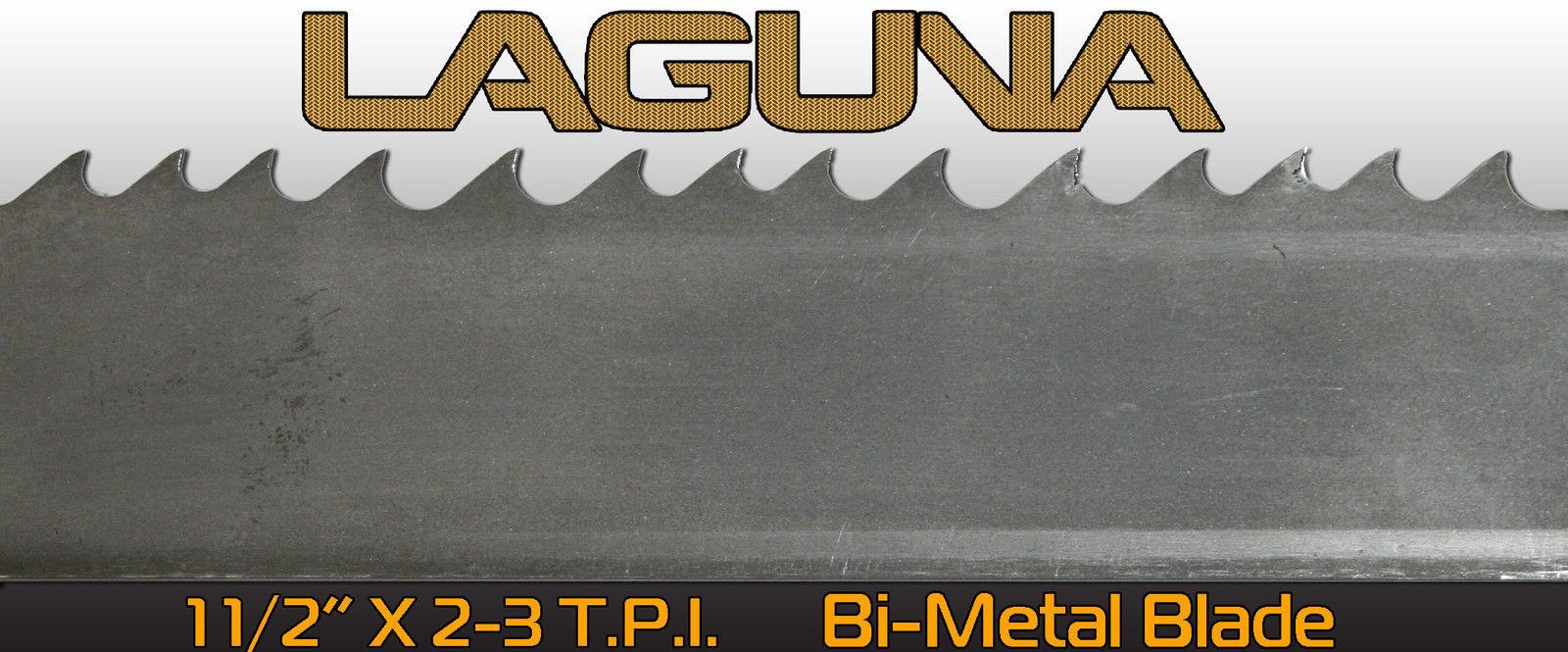 "1 1/2"" 2-3 TPI X 123"" Bimetal BandSaw Blade Laguna Tools Metal Cutting Blade"