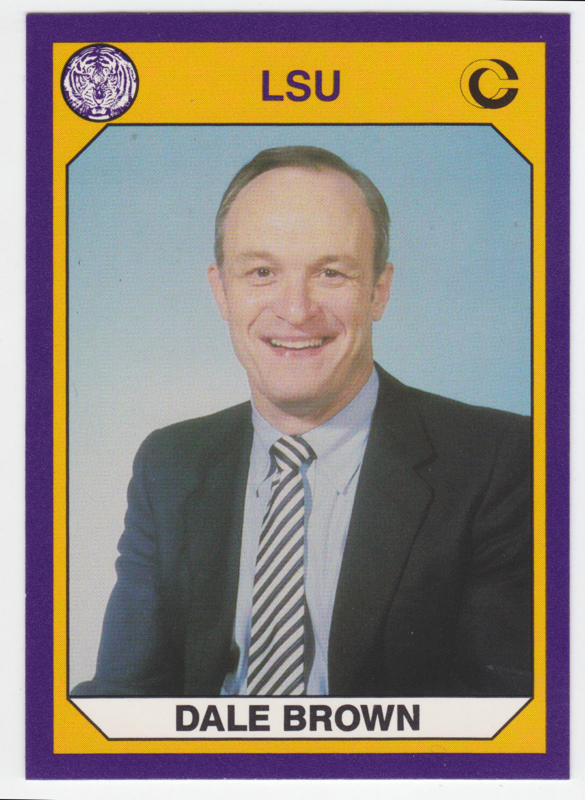 1990 Collegiate Collection LSU Basketball Coach DALE BROWN #11 -Hall Of Fame-
